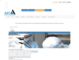 careercenter.ast.org screenshot