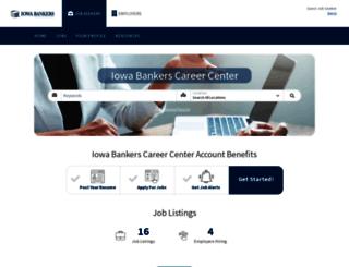 careercenter.iowabankers.com screenshot