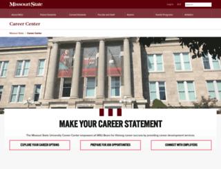 careercenter.missouristate.edu screenshot