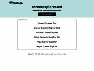 careerexplorer.net screenshot