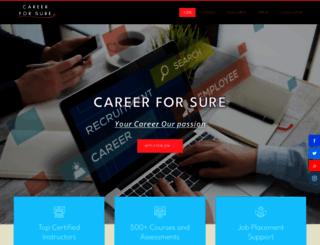careerforsure.com screenshot