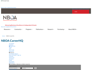 careerhq.nboa.org screenshot