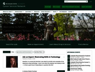careernetwork.msu.edu screenshot