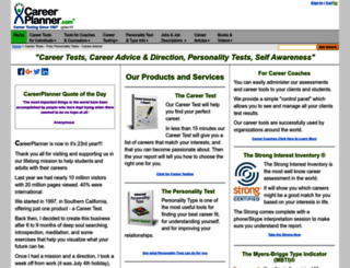 careerplanner.com screenshot