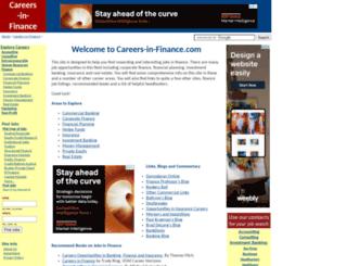 careers-in-finance.com screenshot