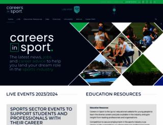 careers-in-sport.co.uk screenshot