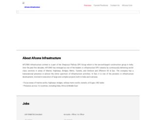 careers.afcons.com screenshot
