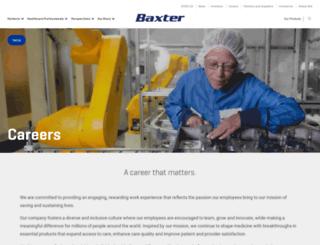 careers.baxter.com screenshot