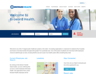 careers.browardhealth.org screenshot
