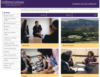 careers.callutheran.edu screenshot