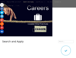 careers.completeclinicaltrialsguide.co.uk screenshot
