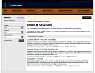 careers.customs.govt.nz screenshot