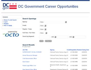 careers.dc.gov screenshot