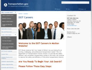 careers.dot.gov screenshot