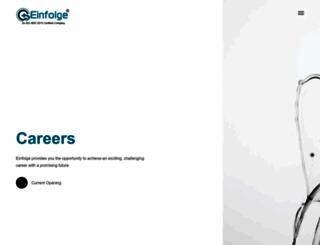 careers.einfolge.com screenshot