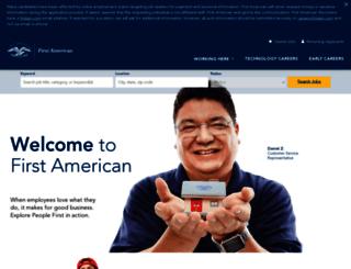 careers.firstam.com screenshot