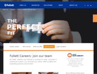 careers.follett.com screenshot