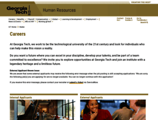 careers.gatech.edu screenshot