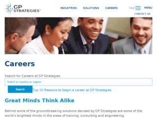 careers.gpstrategies.com screenshot