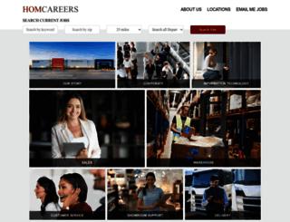 careers.homfurniture.com screenshot