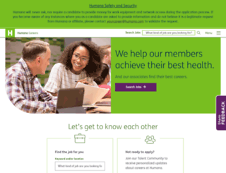 careers.humana.com screenshot