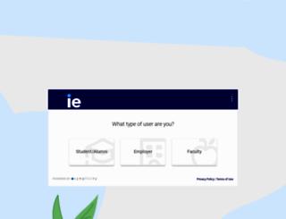 careers.ie.edu screenshot
