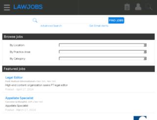 careers.lawjobs.com screenshot