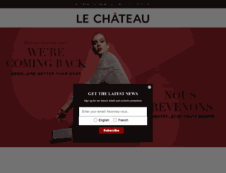careers.lechateau.com screenshot