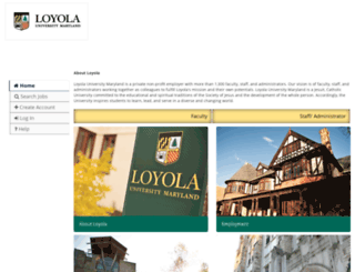 careers.loyola.edu screenshot