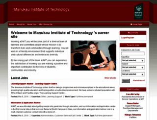 careers.manukau.ac.nz screenshot