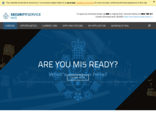 careers.mi5.gov.uk screenshot