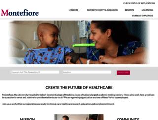 careers.montefiore.org screenshot