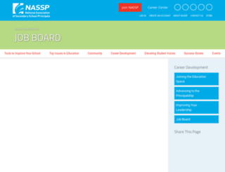 careers.nassp.org screenshot