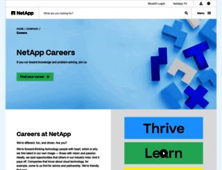 careers.netapp.com screenshot