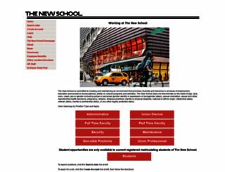 careers.newschool.edu screenshot