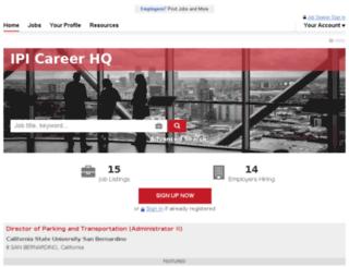 careers.parking.org screenshot