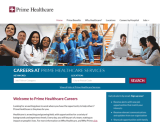 careers.primehealthcare.com screenshot