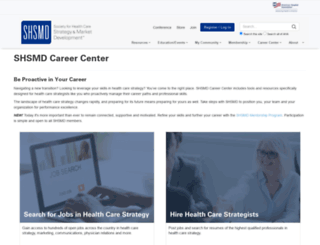careers.shsmd.org screenshot