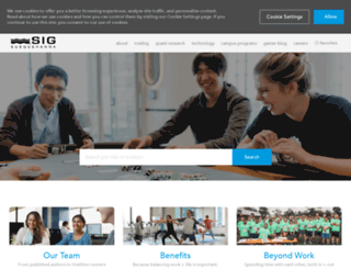 careers.sig.com screenshot