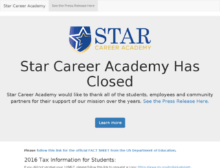 careers.starcareer.edu screenshot