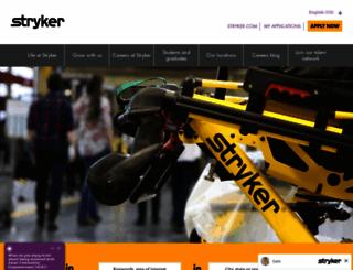 careers.stryker.com screenshot