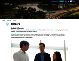 careers.temasek.com.sg screenshot
