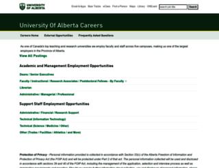 careers.ualberta.ca screenshot