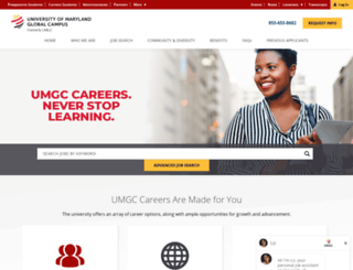 careers.umuc.edu screenshot