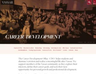 careers.vassar.edu screenshot