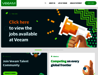 careers.veeam.com screenshot