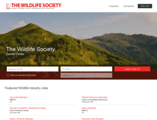 careers.wildlife.org screenshot