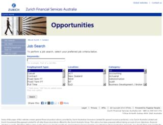 careers.zurich.com.au screenshot