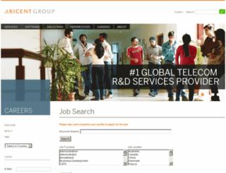 careers2.aricent.com screenshot