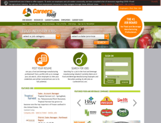 careersinfood.ca screenshot
